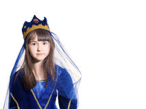 Portrait of girl in princess costume Stock Photography