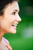 Portrait of girl in profile Stock Image