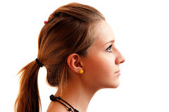 Portrait of girl in profile Stock Photo