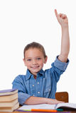 Portrait of a girl raising her arms Royalty Free Stock Photography
