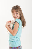 Portrait of the girl with a rat Royalty Free Stock Image