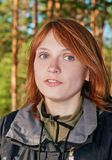Portrait of the girl with red hair Stock Images