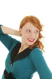 Portrait girl with red hair Stock Images
