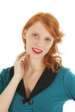 Portrait girl with red hair Stock Photo