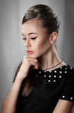 Portrait of a girl in retro style Stock Photography