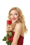 Portrait of a girl with rose Royalty Free Stock Photo