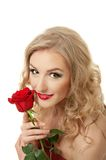 Portrait of a girl with rose Royalty Free Stock Photography