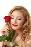 Portrait of a girl with rose Royalty Free Stock Images