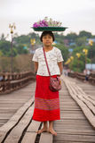 Portrait of a girl in Sangkhlaburi, Thailand Royalty Free Stock Photos