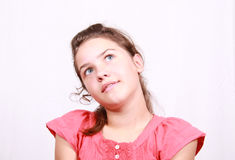 Portrait girl of the school age Royalty Free Stock Photos