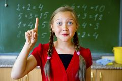 Girl at school royalty free stock photos