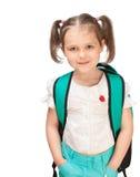 Portrait of a girl schoolgirl Royalty Free Stock Image