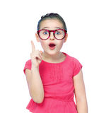 Portrait of a girl schoolgirl wearing glasses Royalty Free Stock Photos