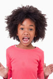 Portrait of a girl screaming Royalty Free Stock Photo