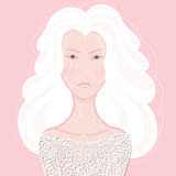 Portrait of a girl with silver hair Royalty Free Stock Images