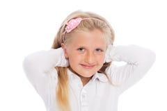 Portrait of girl six years. Stock Image