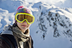 Portrait of a girl with a ski mask Royalty Free Stock Image
