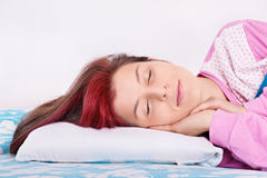 Portrait of a girl sleeping Stock Image