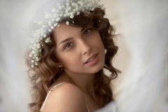 Portrait of girl in soft Royalty Free Stock Photo