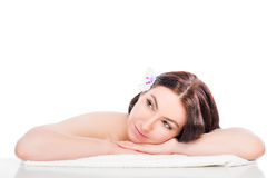 Portrait of a girl on spa treatments Royalty Free Stock Image