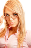 Portrait of girl in spectacles Royalty Free Stock Photo