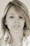 Portrait girl in studio Royalty Free Stock Photography