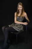 Portrait of the girl in studio Royalty Free Stock Image