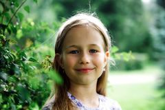 Portrait of girl in summer day royalty free stock photo
