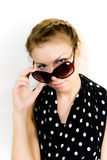 Portrait of the girl in sun glasses Royalty Free Stock Photography