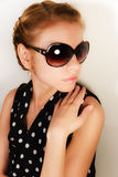 Portrait of the girl in sun glasses Royalty Free Stock Image