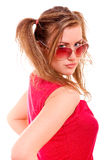Portrait of girl in sun-protection glasses Stock Photography