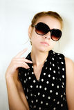 Portrait of the girl in sunglasses Stock Photos