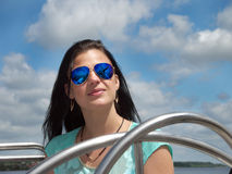 Portrait of a girl in sunglasses Royalty Free Stock Photos