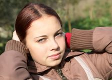Portrait of the girl-teenager Royalty Free Stock Photo