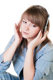 Portrait of the girl - teenager in studio Royalty Free Stock Image