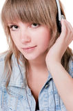 Portrait of the girl - teenager in studio Royalty Free Stock Photos