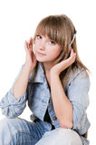 Portrait of the girl - teenager in studio Royalty Free Stock Images