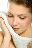 Portrait  of a girl with towel Stock Image