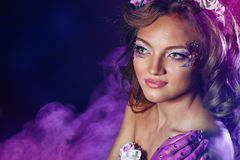 Portrait of girl with unusual make-up Royalty Free Stock Images