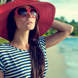 portrait of a girl on vacation Royalty Free Stock Photography