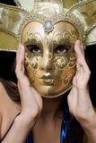 Portrait of girl in a Venetian mask Royalty Free Stock Photography