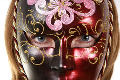 Portrait of a girl in the venetian masks Stock Photo