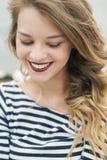 Portrait of girl in vest Stock Image