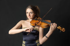 Portrait of a girl violinist Royalty Free Stock Photography