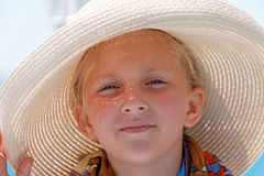 Portrait of a girl wearing a hat Royalty Free Stock Image