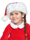 Portrait of girl wearing santa claus clothes Stock Image