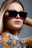 Portrait of a girl wearing sunglasses Royalty Free Stock Image