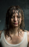 Portrait of a girl with wet hair, Stock Photos