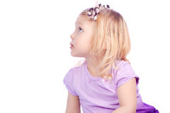 Portrait of a girl on a white background Royalty Free Stock Photo