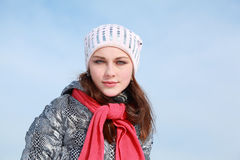 Portrait of girl in winter clothes Stock Photo